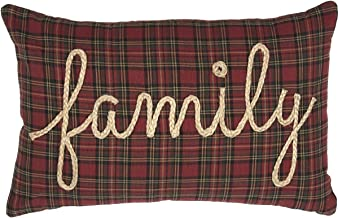 VHC Brands Rustic & Lodge Primitive Pillows & Throws-Tea Star Red Family 14 x 22 Pillow, Brick