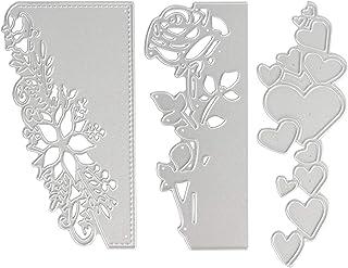 OOTSR 3pcs Matrices de découpe en métal, Pochoir 3D gaufrage de Coupe Matrices pour Artisanat de Bricolage/Scrapbooking/Fa...