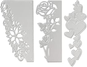 OOTSR 3pcs Metallic Cutting Dies, 3D Embossing Die Stencil Mould for Scrapbooking/Card Making/DIY Craft, Rose/Heart/Lace F...