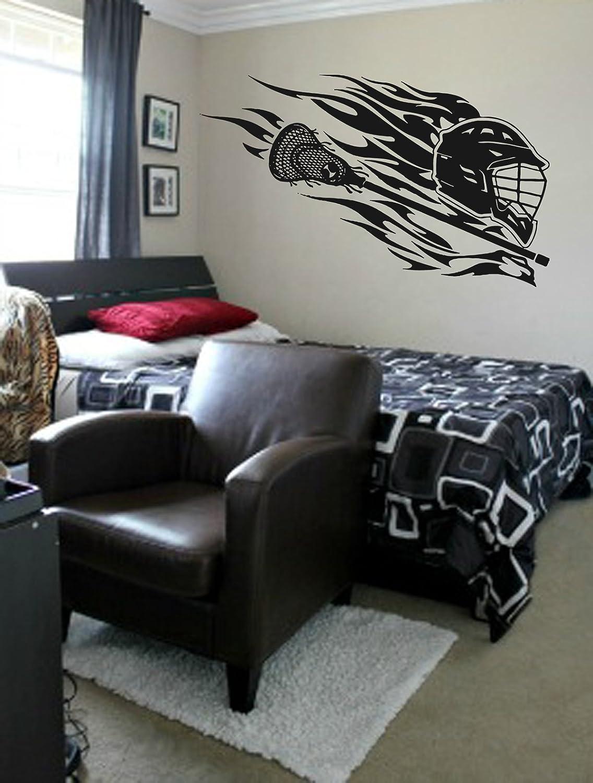 STICKERSFORLIFE ik873 Wall Decal Sticker Lacrosse Helmet Sport Room Teens Kids Teen Bedroom