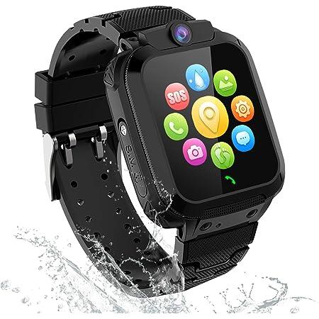 GPS Tracker Smartwatch Enfants - Montre Intelligente Téléphone pour Enfants Garçons Fille Etudiant, Montre Enfants Con Appel d'urgence SOS Appareil Photo Réveil Podometre Localisation GPS