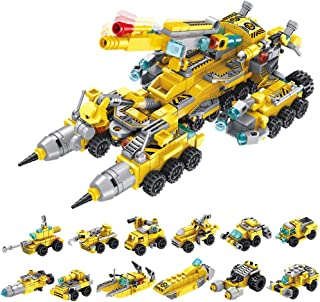 Elovien STEM Building Toys for Kids, 25 Models Construction Truck Building Blocks Sets, 566PCS Building Bricks for 6 Yr Old Boys, Educational Building Kits Gift for Boys Girls Aged 6 7 8 9 10 11 12+
