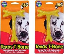 (2 Pack) Fido Texas T-Bone Dental Dog Bone, Beef Flavored, Medium 5-1/2