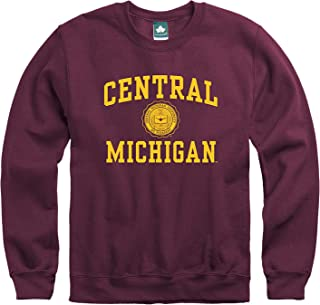 Crewneck Sweatshirt, Cotton/Poly Blend, Legacy Logo Color, NCAA Colleges and Universities