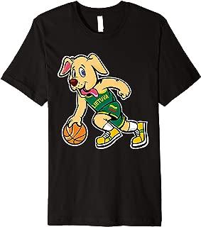 Dog Lithuania Basketball Jersey Lietuva Flag Gift Premium T-Shirt