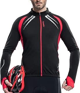 Santic Cycling Jersey Men's Long Sleeve Jacket Fleece Thermal Windproof Winter Bike Bicycle Coat