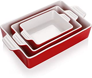 Teocera Porcelain Baking Dish, Casserole Dish, Rectangular Bakeware Set, Lasagna Pans for Cooking, Kitchen, Dinner Parties...