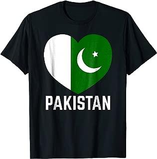 Pakistan Flag Heart Independence Day Men Women Kids T-shirt