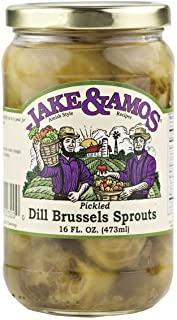 Jake & Amos Dill Brussel Sprouts, 16 Oz. Jar (Pack of 2) by Jake & Amos