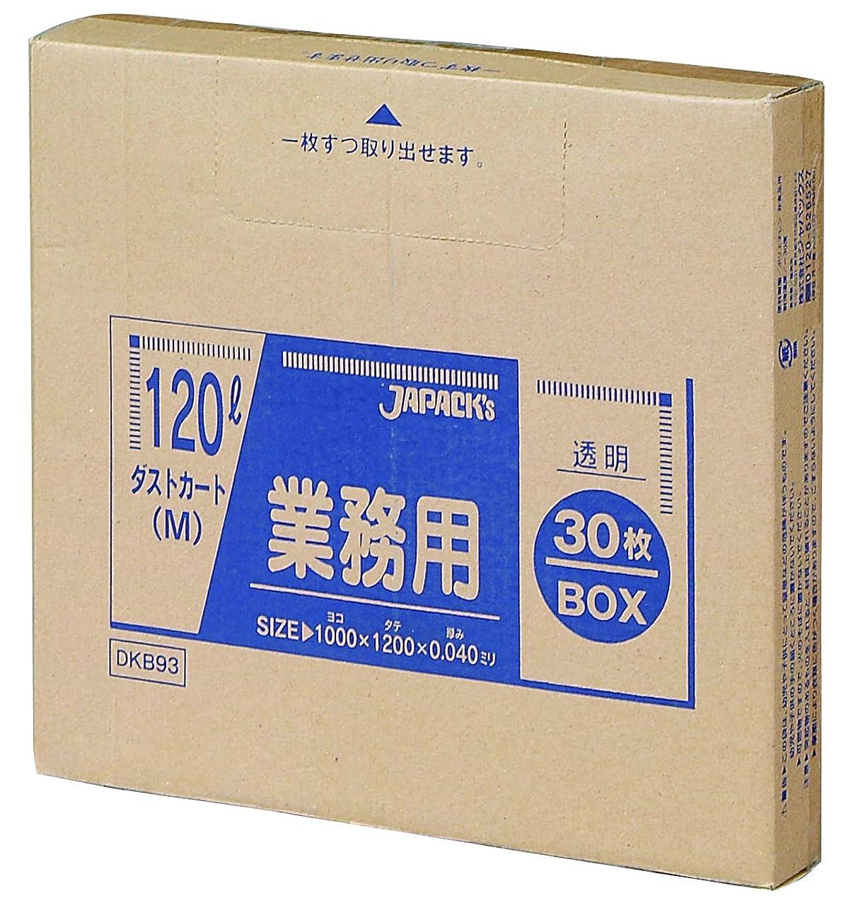 お気に入りパーティション到着ジャパックス 業務用 ダストカート  透明 120L 大型 ゴミ袋 大容量 DKB-93 30枚入