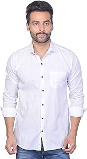 La Milano Men's Solid Slim Fit Casual Shirt