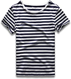 Zecmos Mens Stripes T-Shirts Casual Slim Fit Tshirts Striped Tees Top