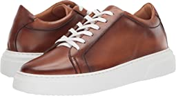 Burnished Leather Low-Top Cup Sole Sneaker