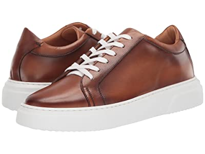 eleventy Burnished Leather Low-Top Cup Sole Sneaker (Camel) Men