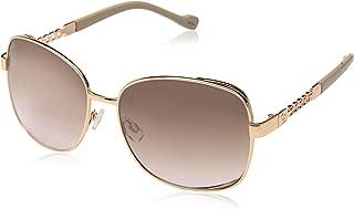 Jessica Simpson Women's J5512 Rgdnd Non-polarized Iridium Round Sunglasses, Rose Gold Nude, 65 mm