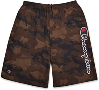 Champion Mens Big and Tall Lightweight Cotton Jersey Shorts with Script Logo