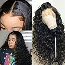 BLY Lace Front Wigs Human Hair Wigs for Black Women 10 Inch Brazilian Loose Deep Wave Hair Wet and Wavy Human Hair 13x4 Full Lace Wigs with Baby Hair Pre Plucked