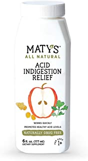 Maty's All Natural Acid Indigestion Relief 6 fl oz Eases Heartburn & Reflux