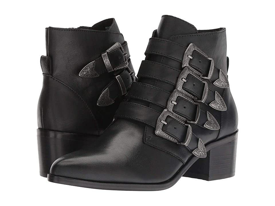 Steve Madden Billey Bootie (Black Leather) Women