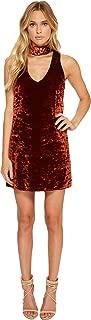 Women's Friday Choker Dress Burgundy Pebble