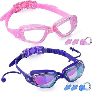 Rngeo Swim Goggles,Swimming Glasses for Adult Men Women Youth Kids Child