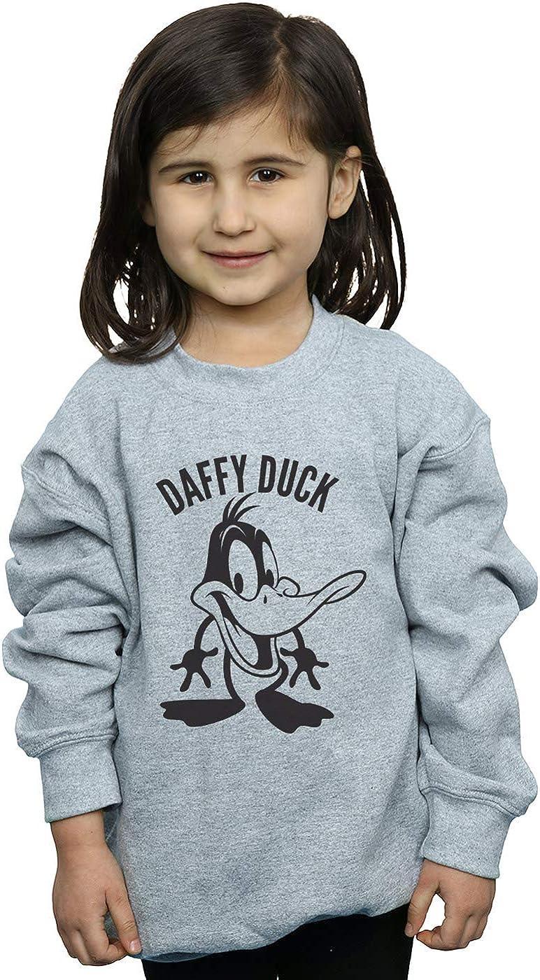 Looney Tunes Girls Daffy Duck Large Head Sweatshirt