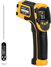 Infrared Thermometer Non-Contact Digital Laser Temperature Gun with Color Display -58℉~1112℉(-50℃~600℃) Adjustable Emissiv...