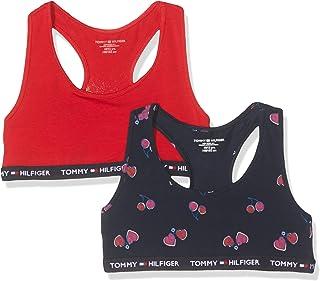 Tommy Hilfiger 2p Bralette Cherries Sujetador, Multicolor (Multi 595), Talla única (Talla del Fabricante: 8-10) (Pack de 2...