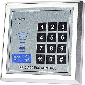 YAVIS 125KHz RFID ID Porte Clavier de contr/ôle dacc/ès Clavier Lecteur de carte RFID Support de proximit/é Seul Syst/ème de contr/ôle dacc/ès de porte 10 porte-cl/és Support 500 utilisateurs