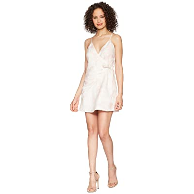 The Jetset Diaries Topanga Wrap Mini Dress (Peach) Women