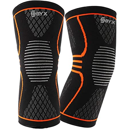 MCL Compression Knee Braces for Women and Men by Fitbyx Arthritis Squats and Workouts Proflex Braces Support Meniscus Tear Crossfit 1 Pair Extra Large Blue Running ACL