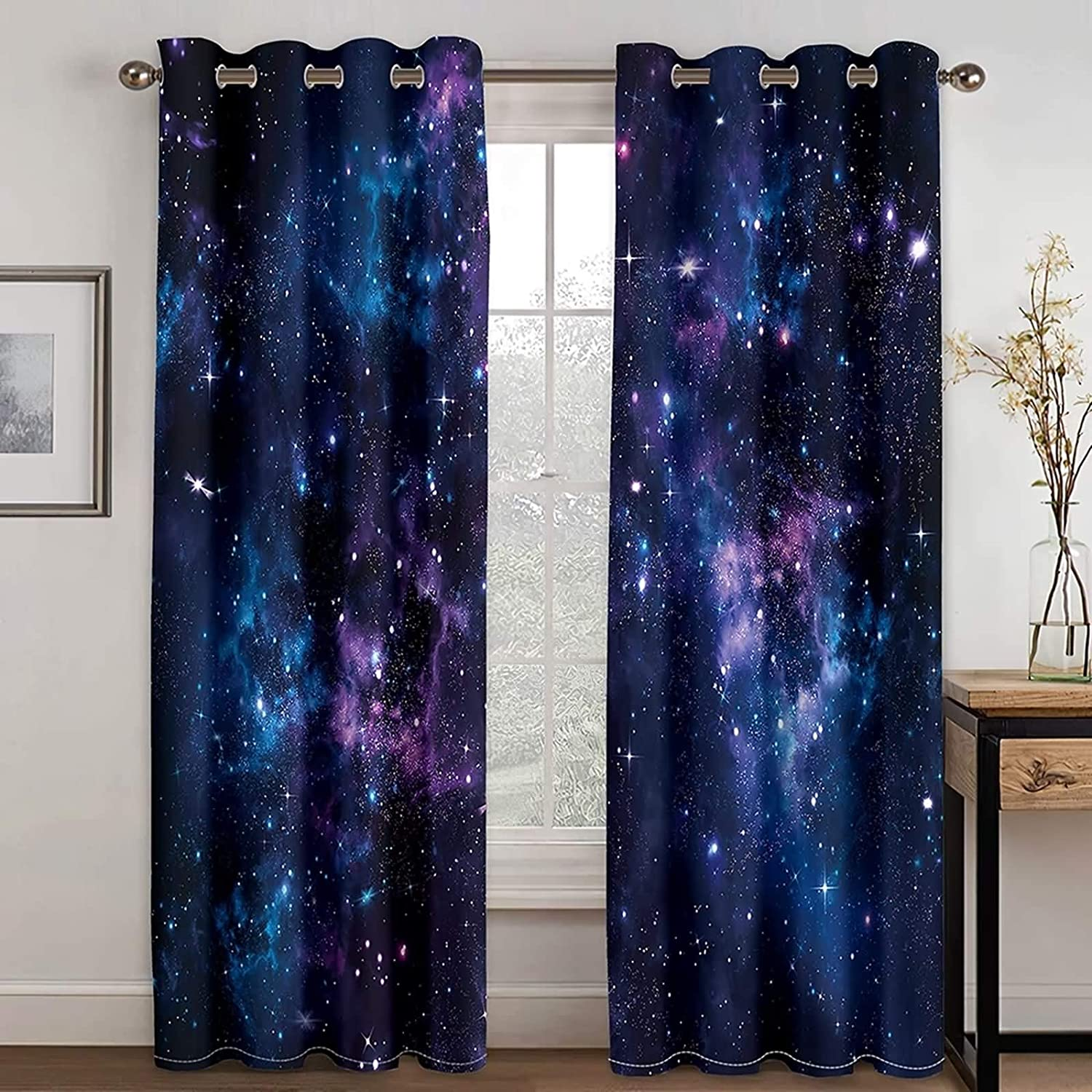 Daesar Bedroom Curtains 2 Panel Living Boston Mall New product!! Sets Roo Modern