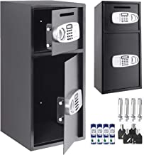 VEVOR Large Double Door Security Safe Box Steel Safe Box Strong Box with Digital Lock for Money Gun Jewelry Black