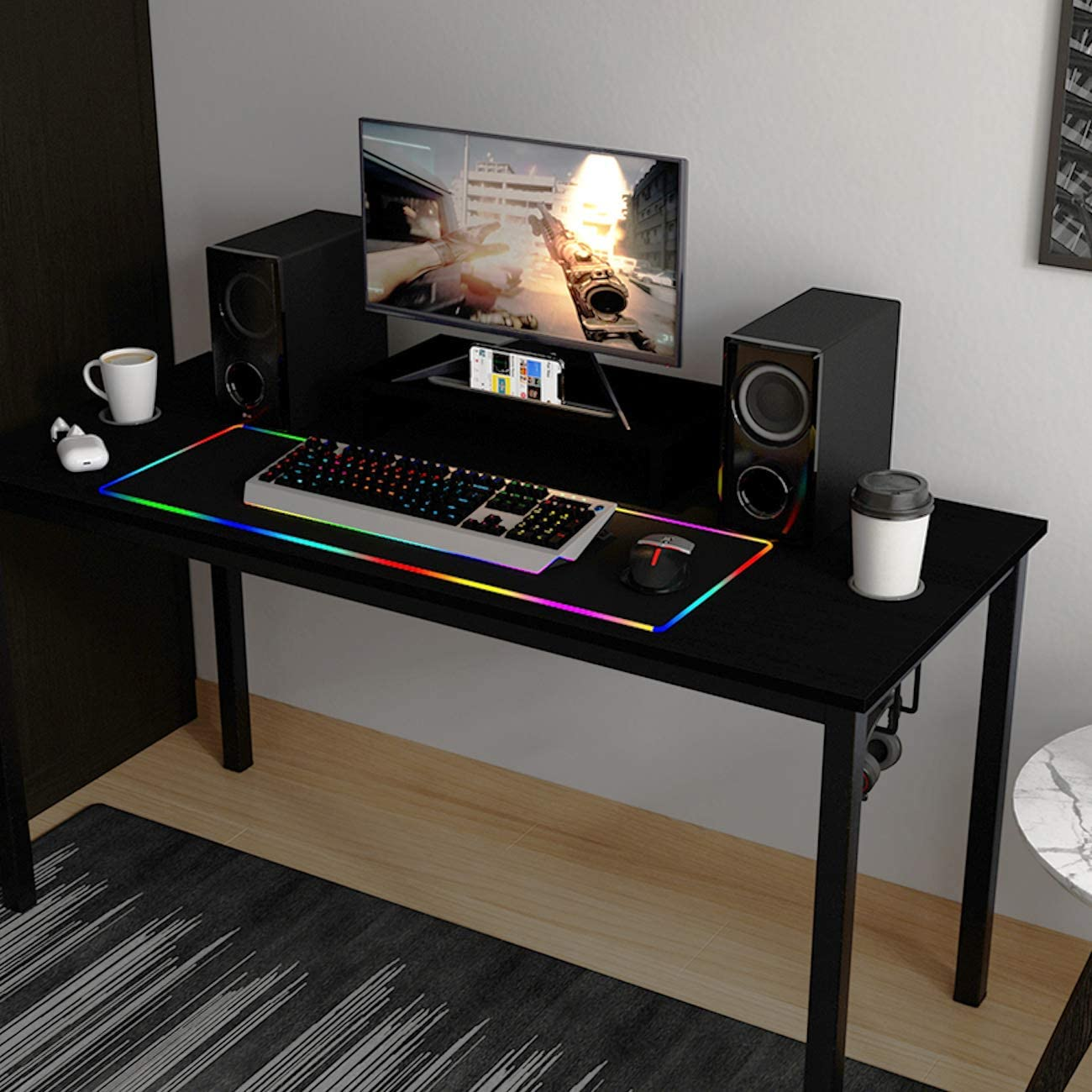 List price sogesfurniture Gaming Max 46% OFF Computer Desk Tab 54.6 inches