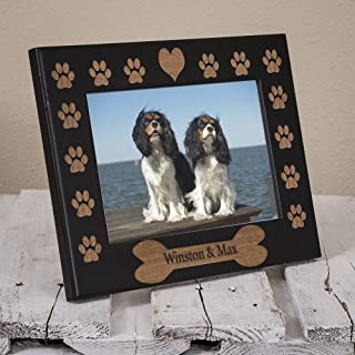 Dog Name Picture Frame Engraved on Wood - Personalized Dog Picture Frame - Custom Dog Frame - Personalized Pet Gift - Gift for New Pet Owner - New Dog Gift - Dog Remembrance Frame