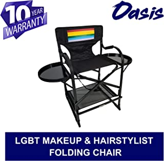 TuscanyPro Portable Makeup & Hairstylist Chair Designed for LGBT - Perfect for Makeup, Hair Stylist, Salon with 29 Inch Seat Height - Carry Bag Included - 10 Years Warranty