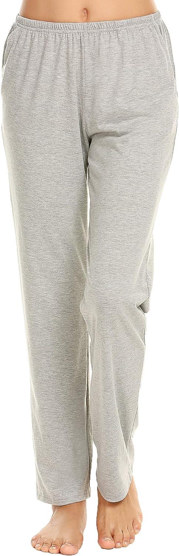 Ekouaer Pajama Pants Women's Casual Lounge Pants Soft Cotton Sleepwear Pj Bottoms with Pockets S-XXL