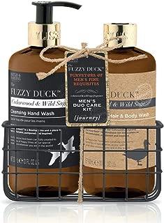 Baylis & Harding Grooming Essentials Bottle Rack, Fuzzy Duck Men's Cedar Wood/Wild Sage