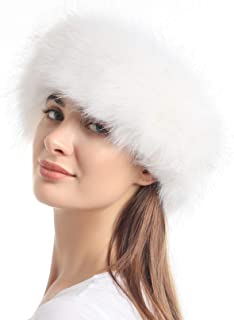 Faux Fur Headband with Elastic for Women's Winter Earwarmer Earmuff
