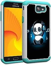 Galaxy J7 V 2017 1st Gen/J7 2017/7 Prime/J7 Perx/J7 Sky Pro/Galaxy Halo Case,Skyfree Heavy Duty Dual Layer Bumper Protective Phone Case for Samsung Galaxy J7 2017,Music Panda