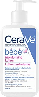 CeraVe Baby Moisturizing Lotion Gentle Baby Skin Care with Ceramides and Hyaluronic Acid Fragrance Free & Paraben Free, 23...