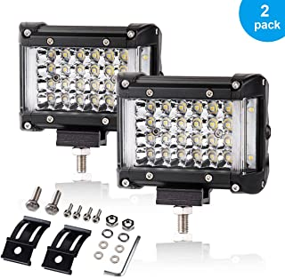 Side Shooter LED Pods, 4 Inch 204W IP68 LED Backup Lights Combo Beam Off Road Driving LED Light Pods for Pick-up Truck Jeep Camper ATV UTV SUV Motorcycle Boat, One Year Warranty, 2PCS