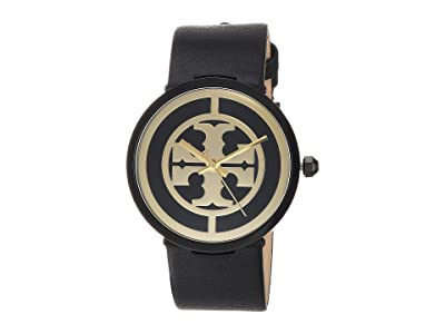 Tory Burch Reva Leather Watch (Black TBW4024) Watches
