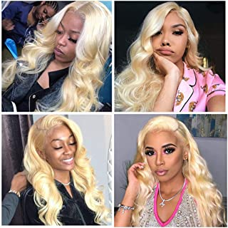 613 Lace Front Wigs Human Hair 613 Body Wave Wigs Human Hair Blonde Lace Front Wigs for Black Women Pre-Plucked Hairline 13X4 Lace Front 150 Density Lace Front Wigs with Baby Hair