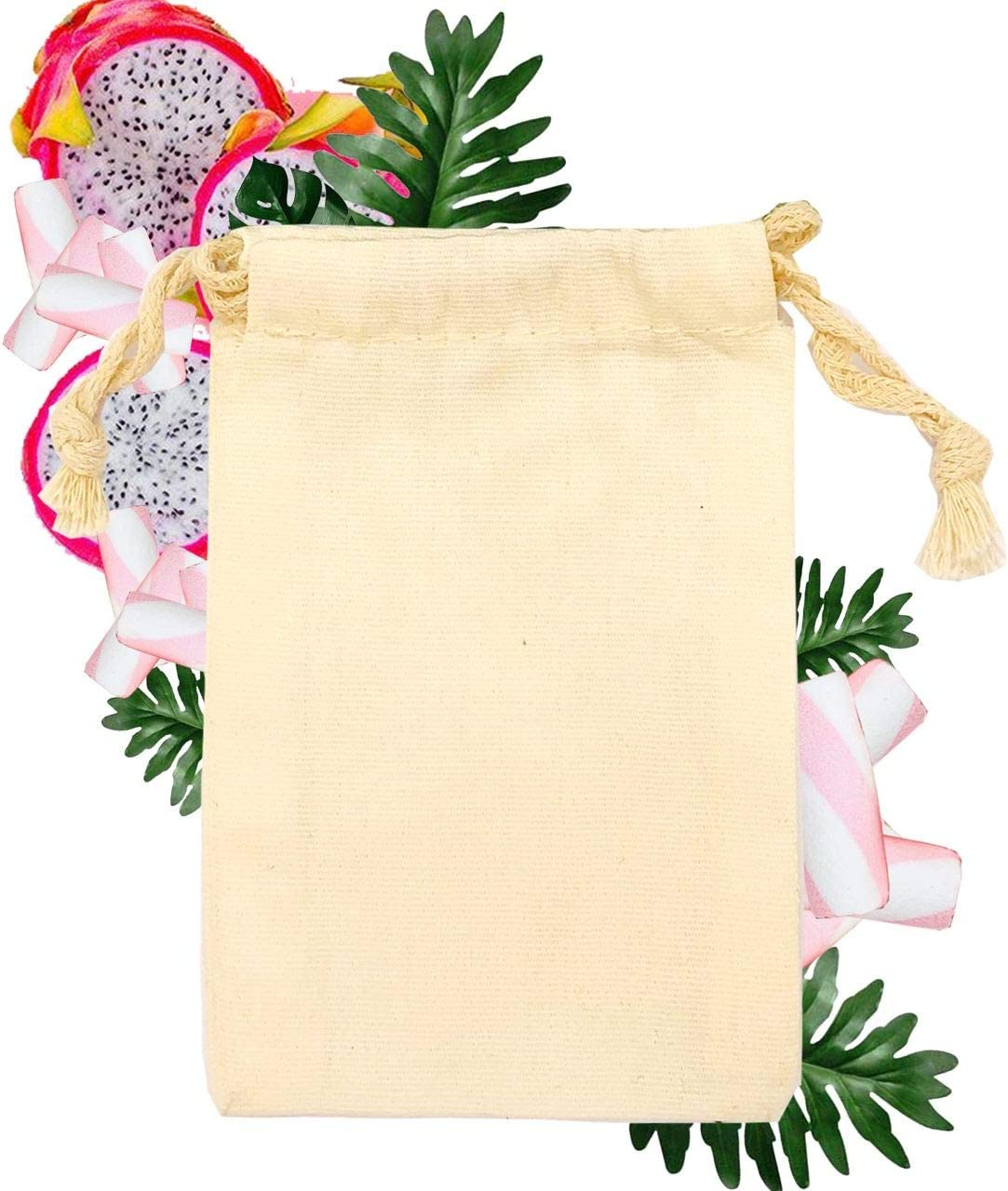 Pack of 50 8x10 inches 100% 5☆好評 Produc bags Canvas 2020秋冬新作 Reusable Cotton -