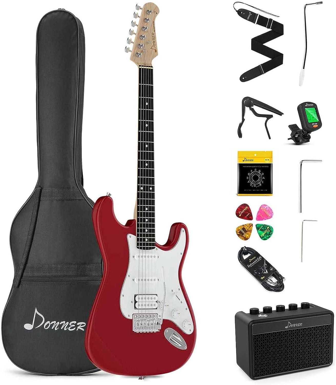 Mejor kit de guitarra eléctrica para principiantes: Donner.