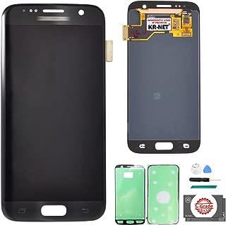 KR-NET LCD AMOLED Display Touch Screen Digitizer Assembly for Samsung Galaxy S7 SM G930 G930F G930A G930V G930P G930T G930R4 G930W8 (Black Onyx) + Tools
