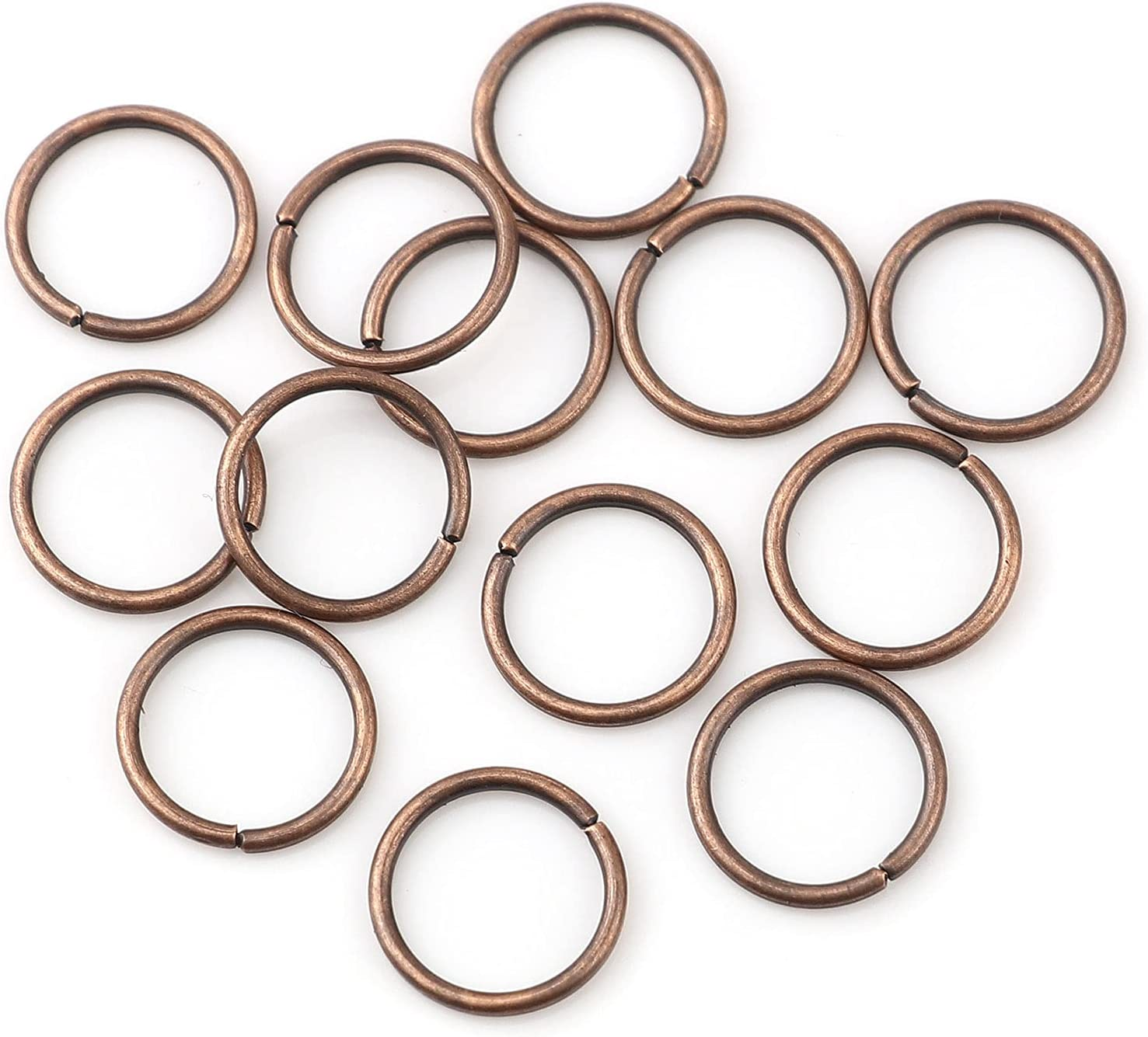 HDSupplies 200 Pieces - 4mm Jump Gauge Selling and selling Super sale Rings Copper 21 Antique