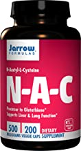Jarrow Formulas N-A-C (N-Acetyl-L-Cysteine), Supports Liver & Lung Function, 500 mg, 200 Caps