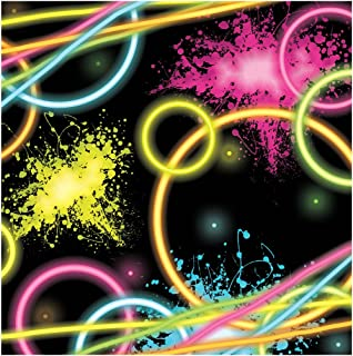 Creative Converting 16-Count Paper Beverage Napkins, Glow Party, One size
